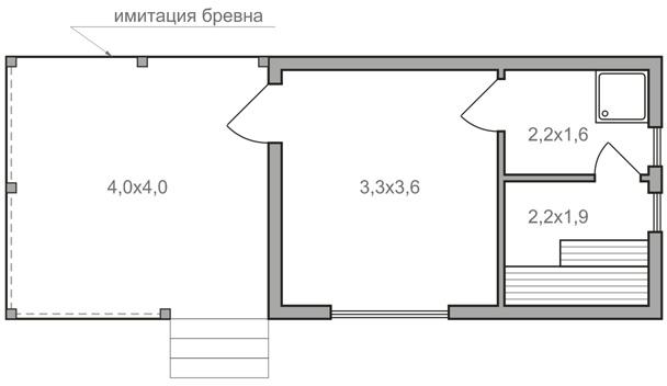 Баня 4х10