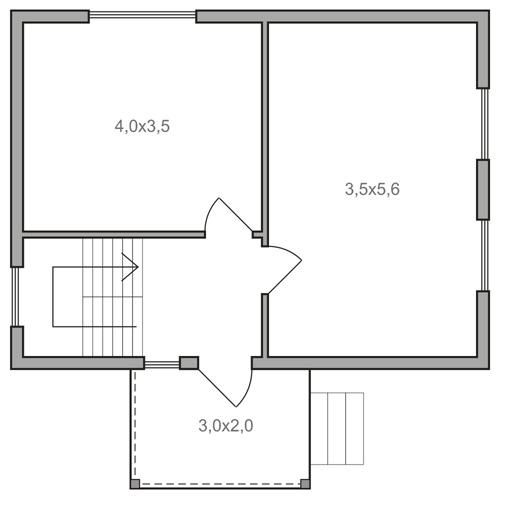 Дом 6х8