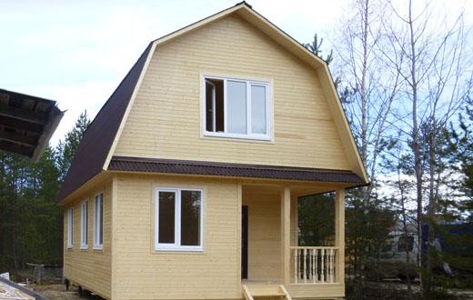 фото дом с мансардой 6х8