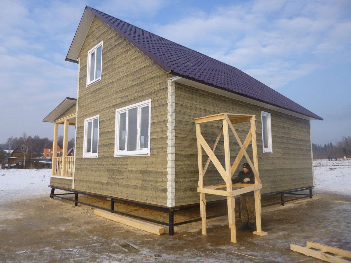 Каркасный дом своими руками 6х9 цена