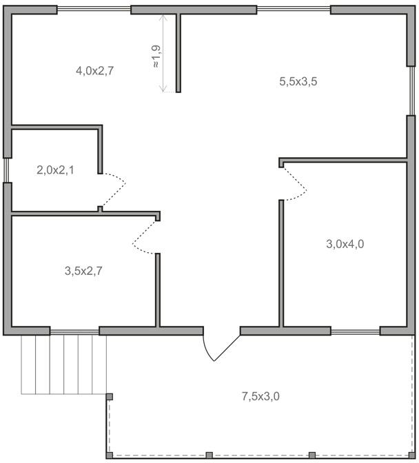 Проекты одноэтажных домов 8 на 10