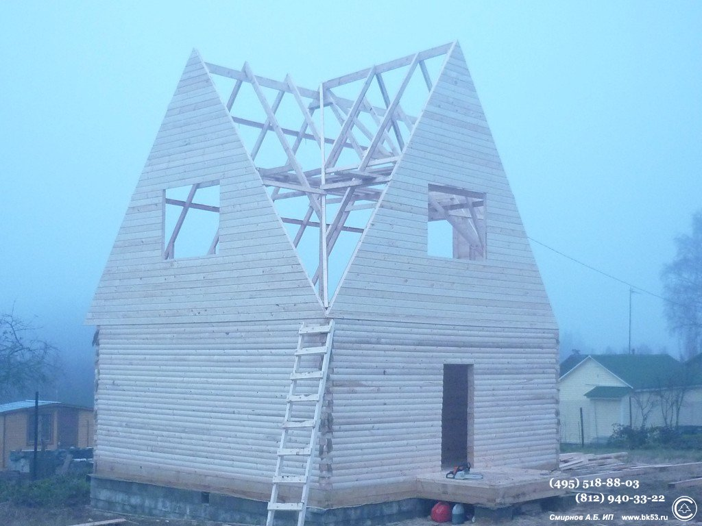 крыша трёхфронтонная фото